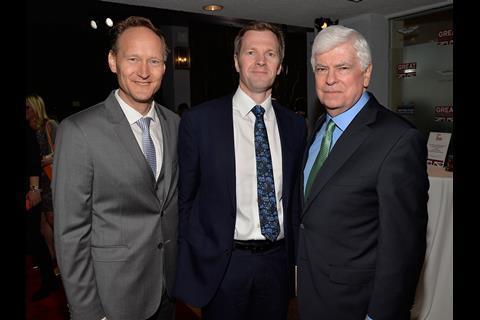 British Consul General Chris O'Connor, British Deputy Ambassador to the US Patrick Davies, and MPAA Chairman/CEO Chris Dodd